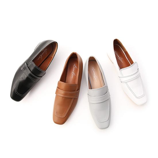 D+AF立體車線低跟樂福鞋 逸歡聯名鞋款