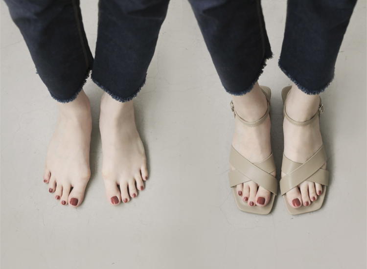 D+AF 拇指外翻涼鞋特輯 優雅俐落 寬版交叉涼鞋 寬版方頭涼鞋 寬帶交叉涼鞋