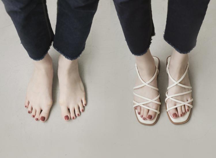 D+AF 拇指外翻涼鞋特輯 活力滿點 細帶涼鞋 交叉細帶涼鞋 Q軟墊涼鞋
