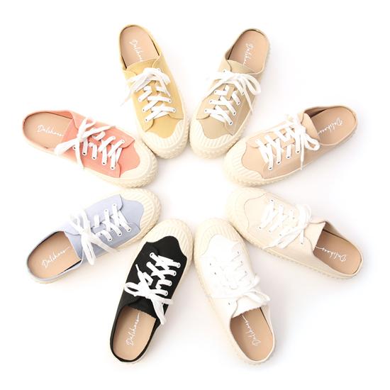 棉花糖女孩鞋款推薦 帆布休閒穆勒餅乾鞋