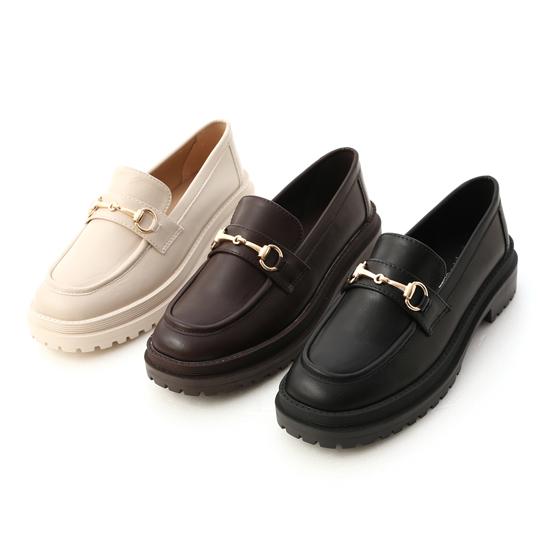 鬆糕底馬銜釦樂福鞋