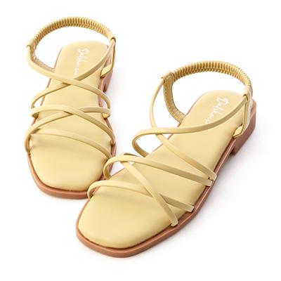 棉花糖軟墊細帶涼鞋 涼鞋
