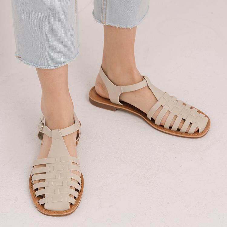 D+AF 夏日時髦好穿有型涼鞋 古著必備 編織涼鞋 多層次涼鞋