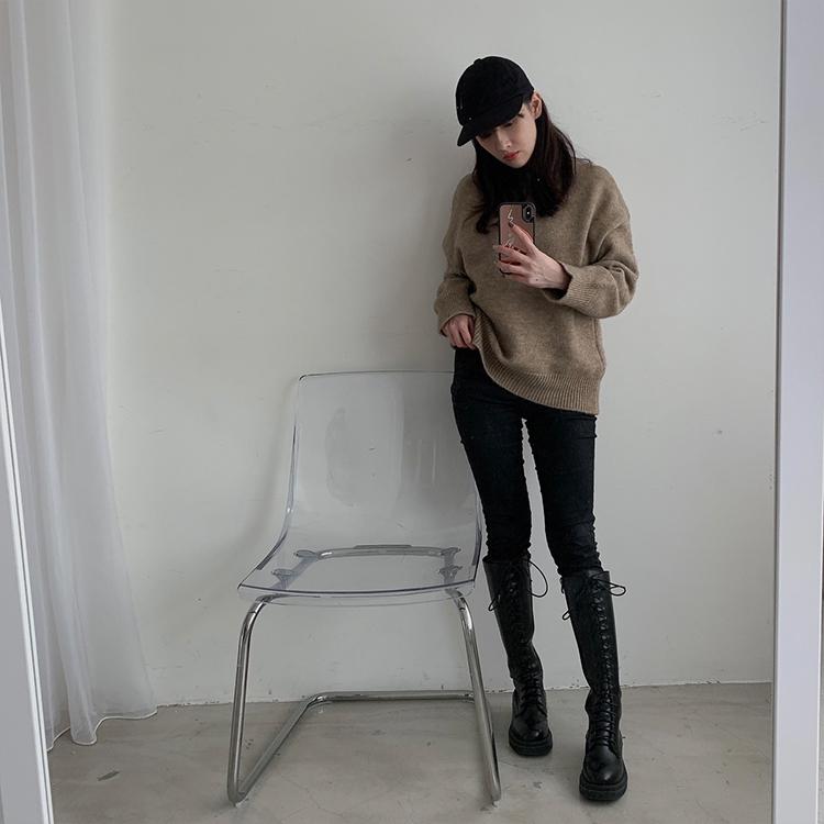 D+AF鬆糕底綁帶馬汀長靴 小隻女穿搭 小隻女 馬汀靴穿搭 長靴穿搭