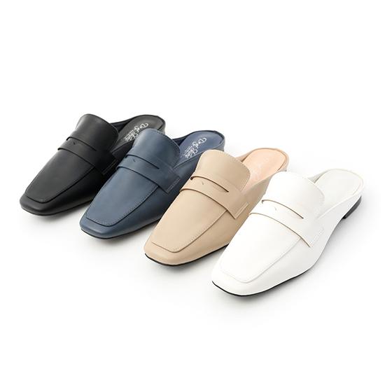 D+AF經典款方頭平底穆勒鞋