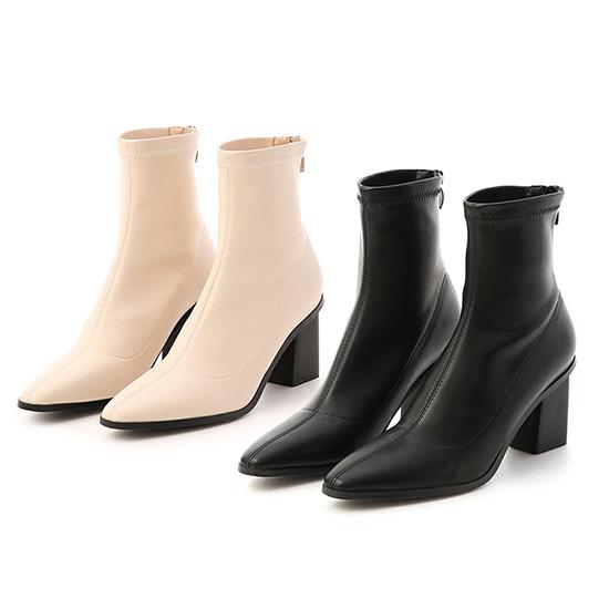 素面車線黑木根襪靴 短靴推薦 穿搭