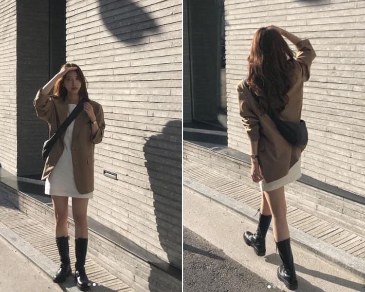 2021女鞋推薦 韓國穿搭 D+AF厚底馬汀靴 長靴 短靴 @ah.hyeon穿搭