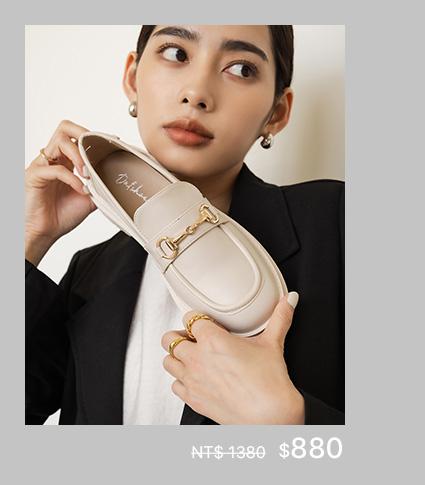 D+AF x MEIER.Q 工作系列 Work collection:復刻經典.鬆糕底馬銜釦樂福鞋
